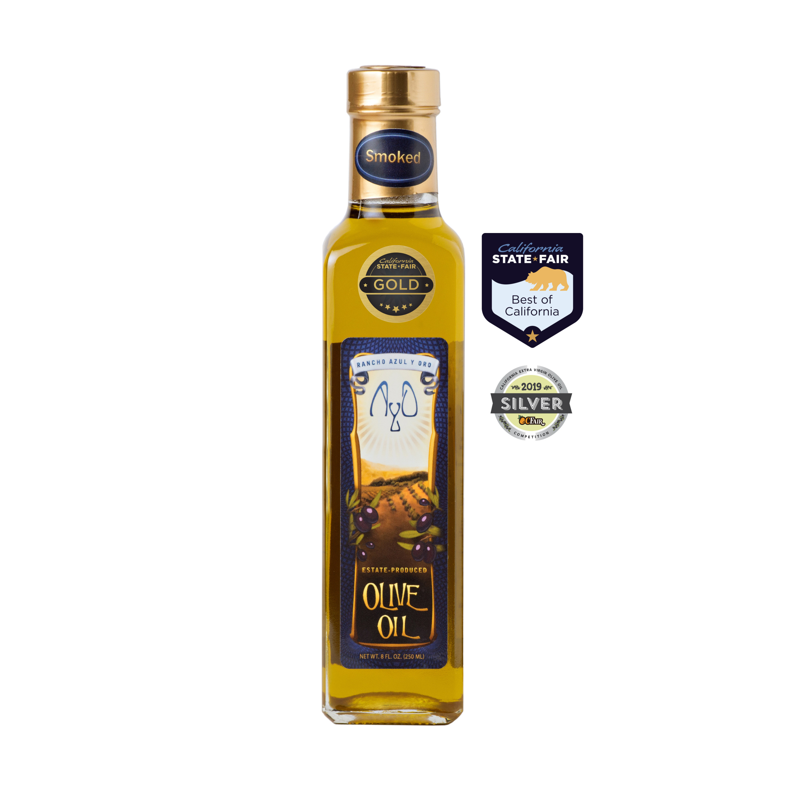 2018 Smoked Olive Oil, 8 oz  (250 ml)